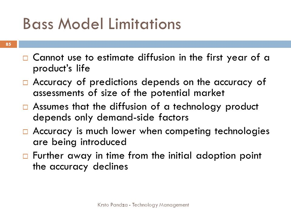 Bass Model Limitations