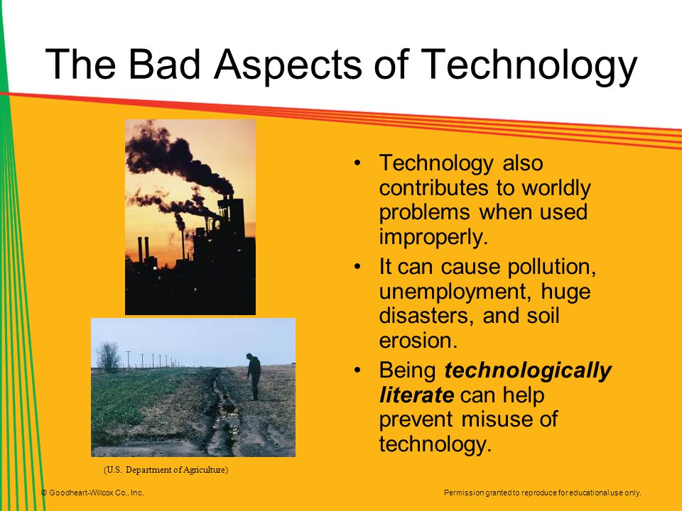 The Bad Aspects of Technology
