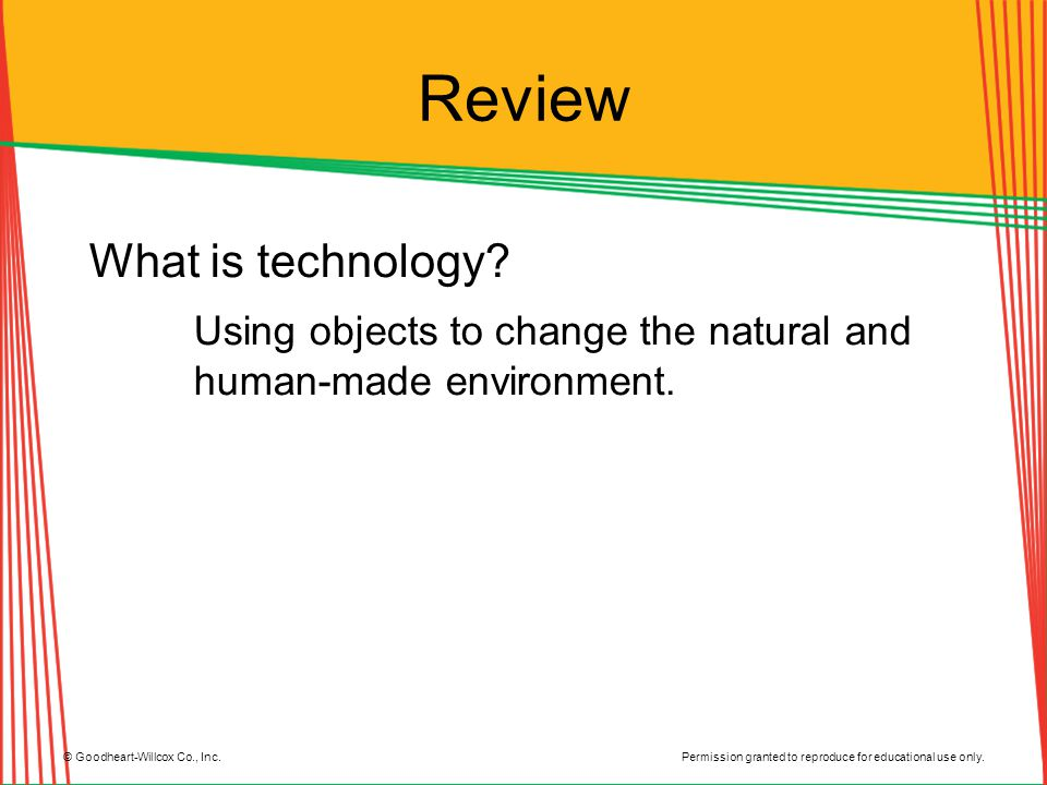 Review What is technology