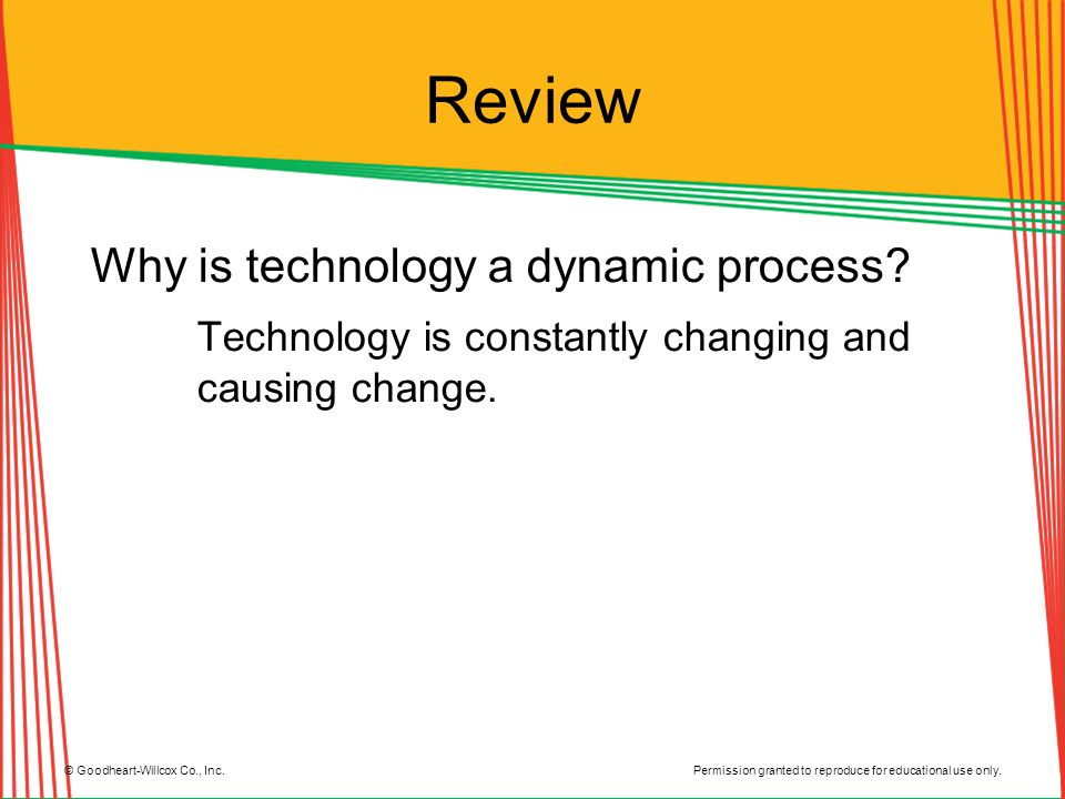 Review Why is technology a dynamic process