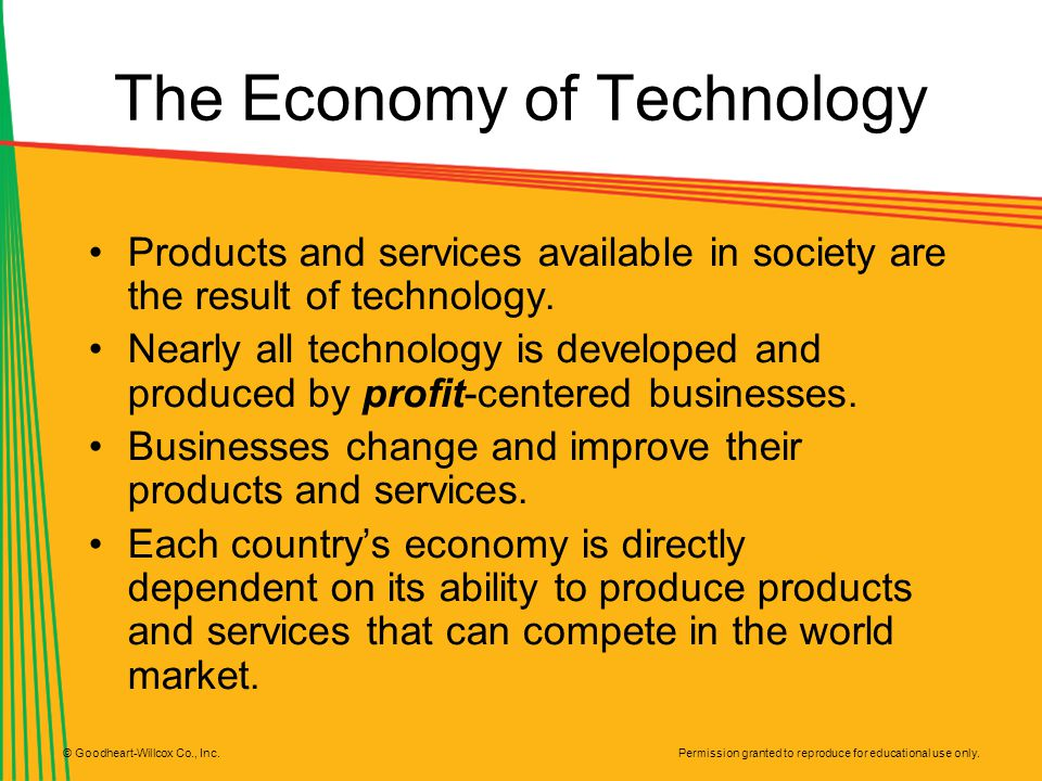 The Economy of Technology