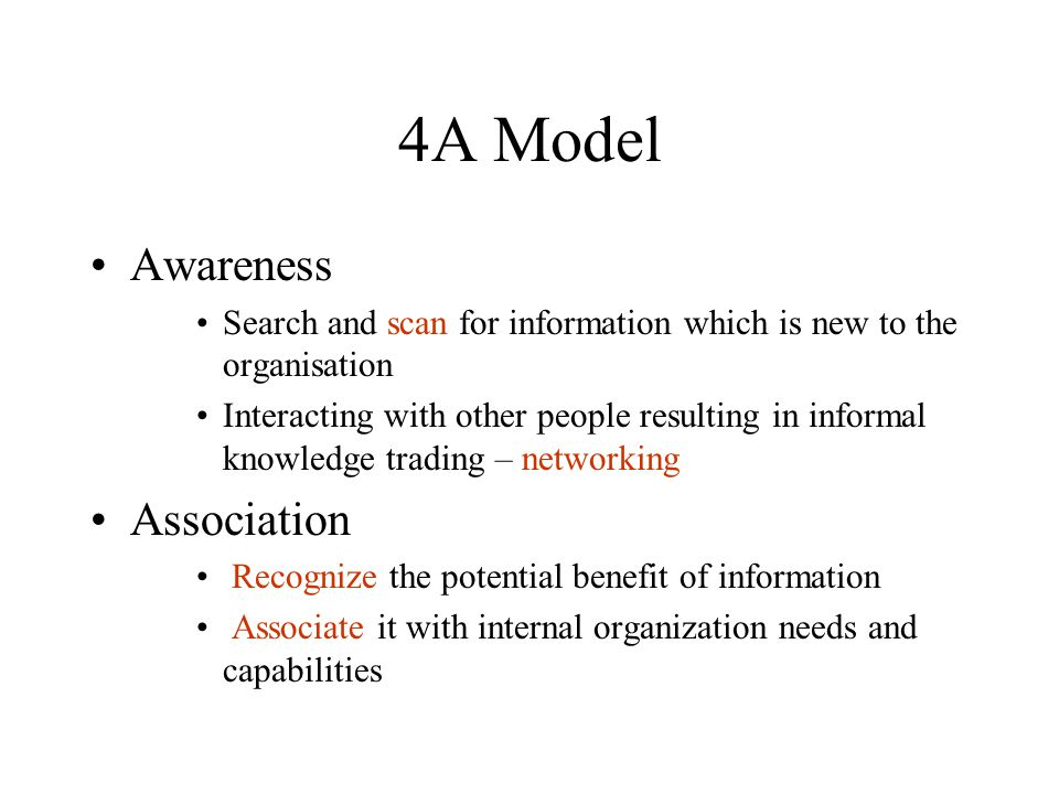 4A Model Awareness Association