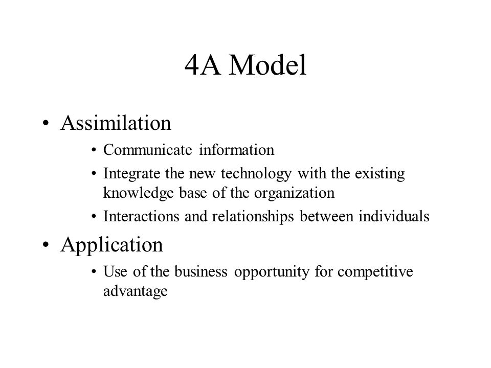4A Model Assimilation Application Communicate information