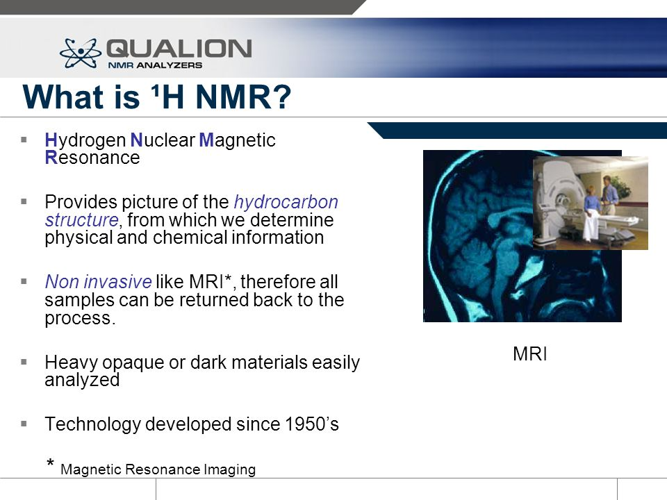 What is ¹H NMR * Magnetic Resonance Imaging