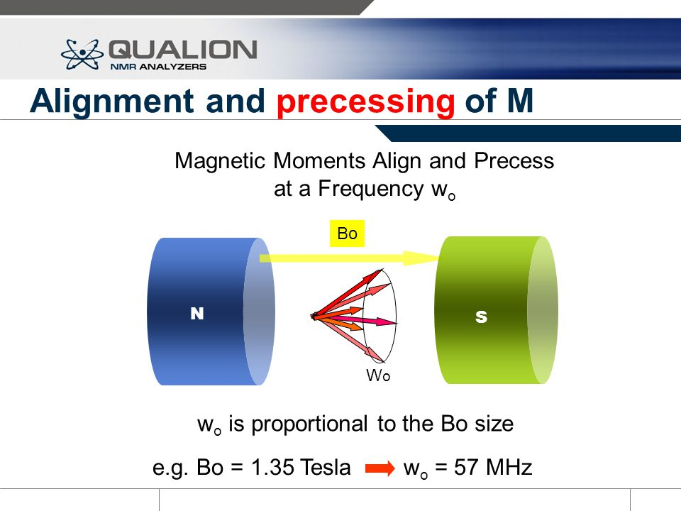 Alignment and precessing of M