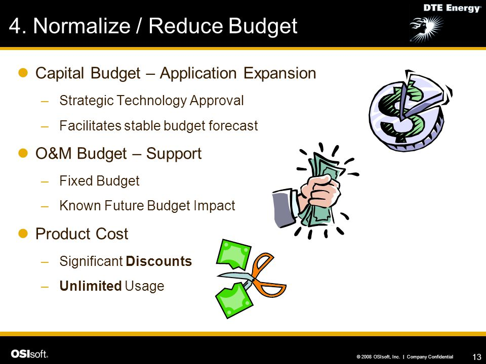 4. Normalize / Reduce Budget