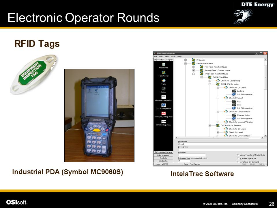 Electronic Operator Rounds