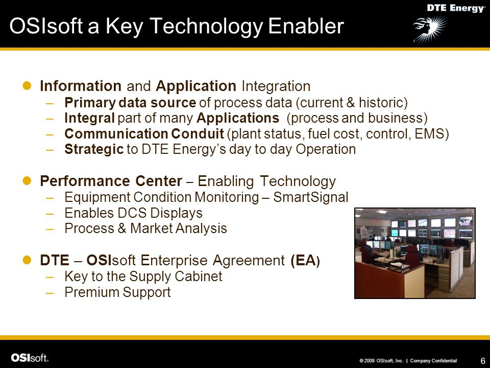 OSIsoft a Key Technology Enabler
