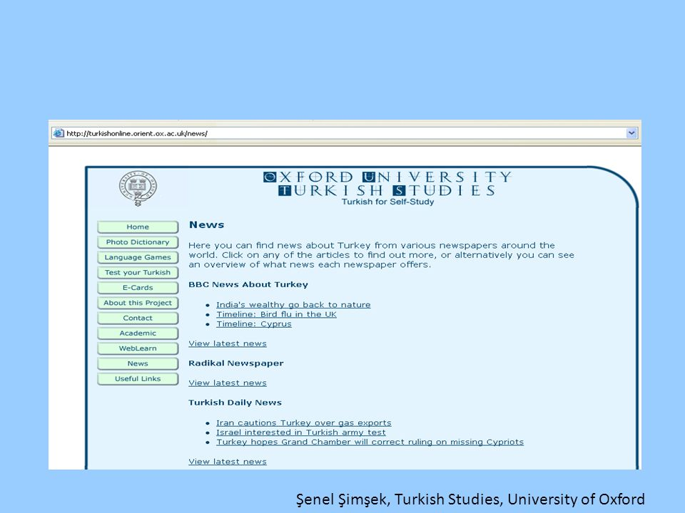 Şenel Şimşek, Turkish Studies, University of Oxford