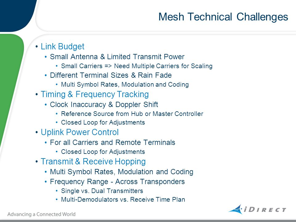 Mesh Technical Challenges