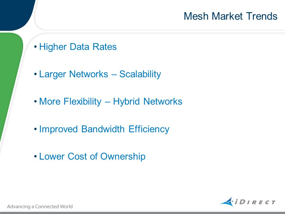 Mesh Market Trends Higher Data Rates Larger Networks – Scalability