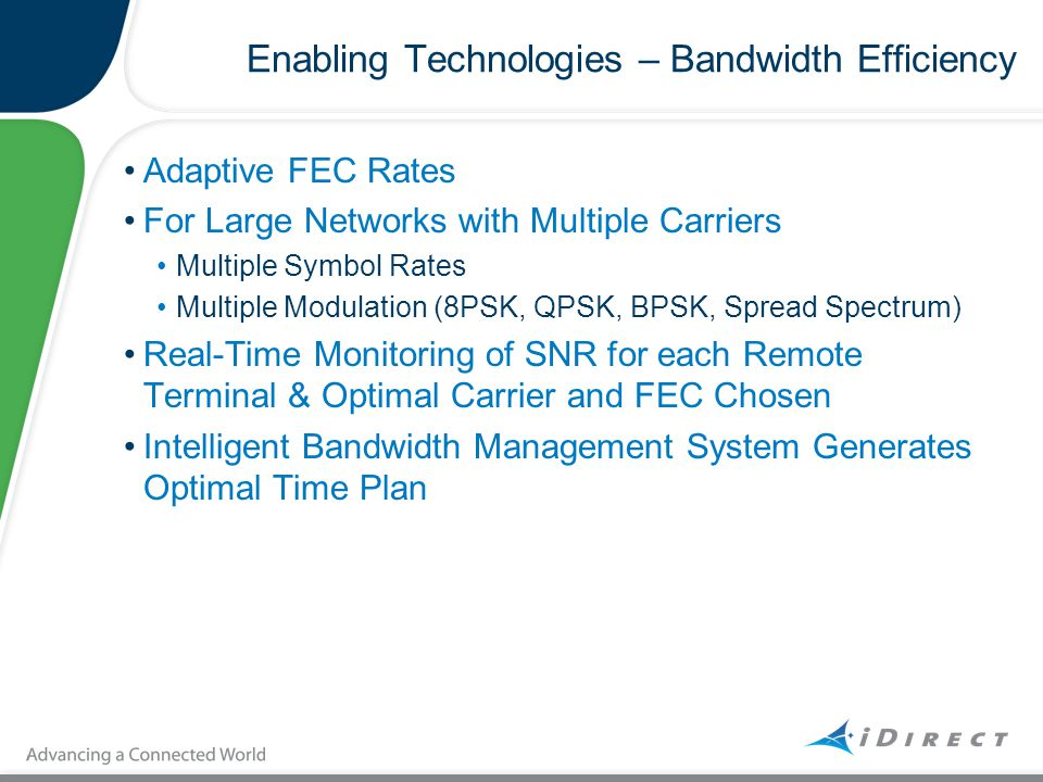 Enabling Technologies – Bandwidth Efficiency