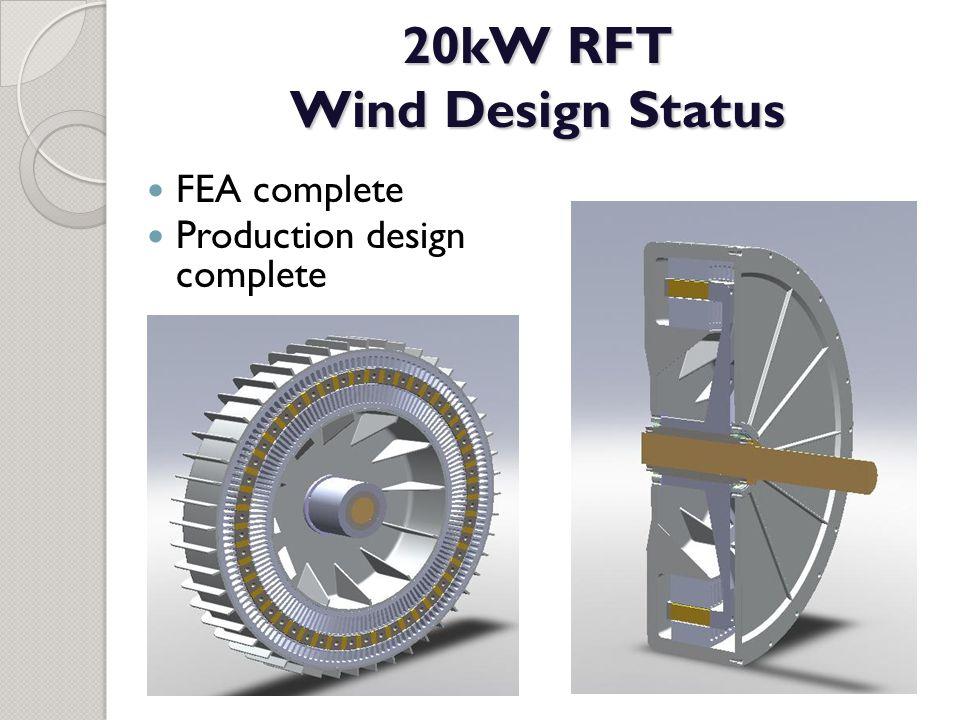20kW RFT Wind Design Status