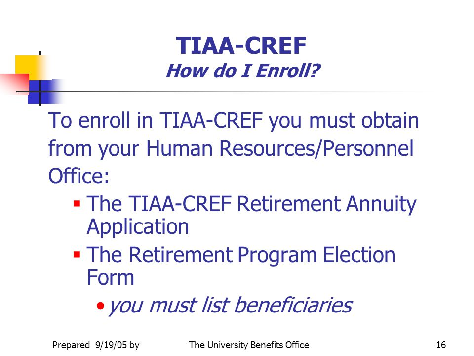 TIAA-CREF How do I Enroll
