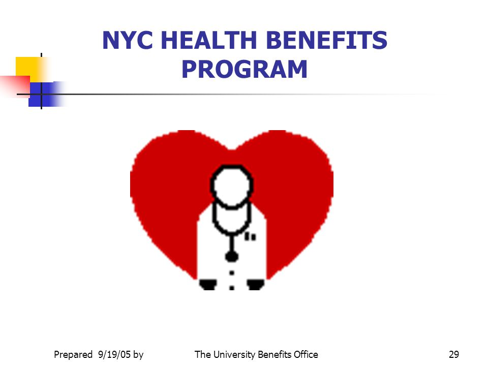 NYC HEALTH BENEFITS PROGRAM