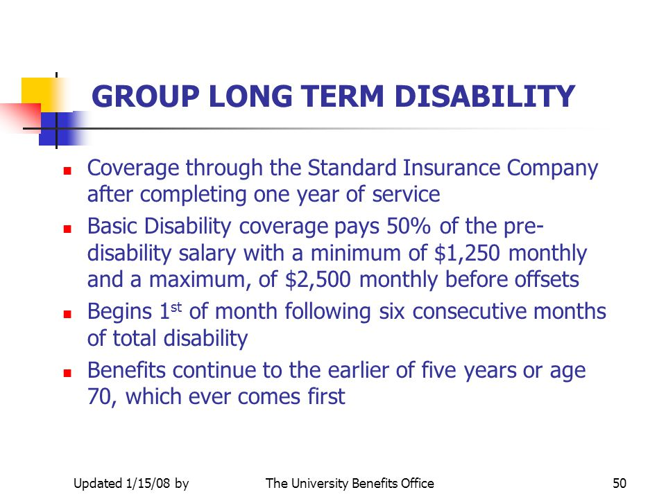 GROUP LONG TERM DISABILITY