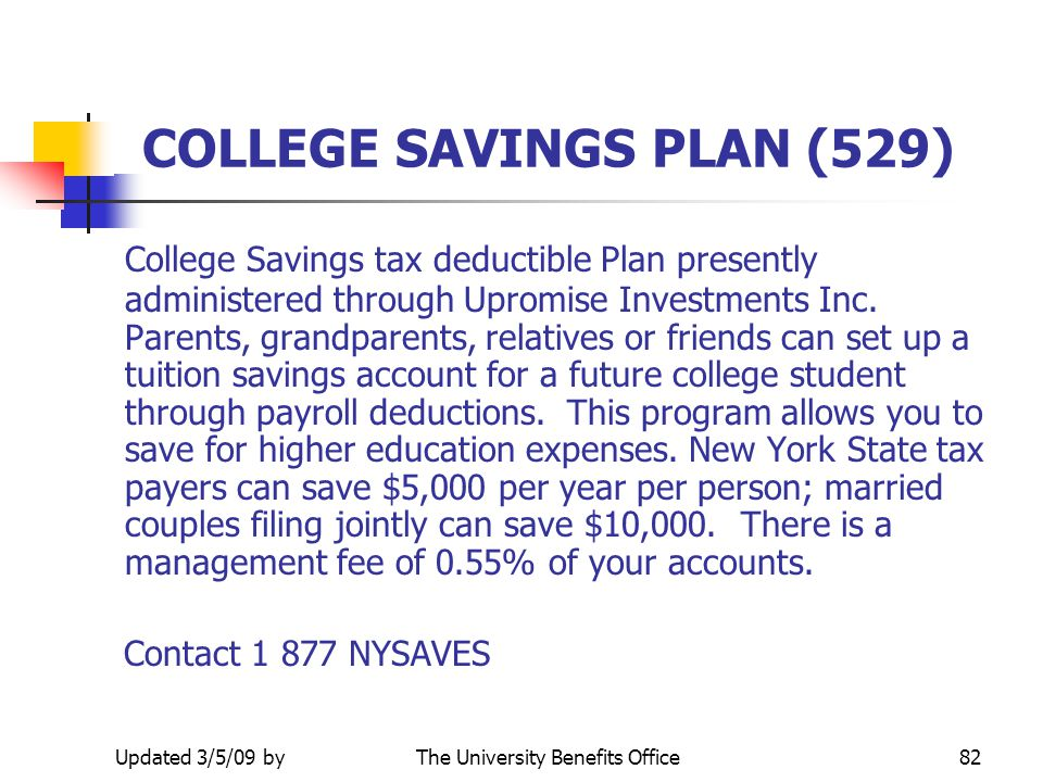 COLLEGE SAVINGS PLAN (529)