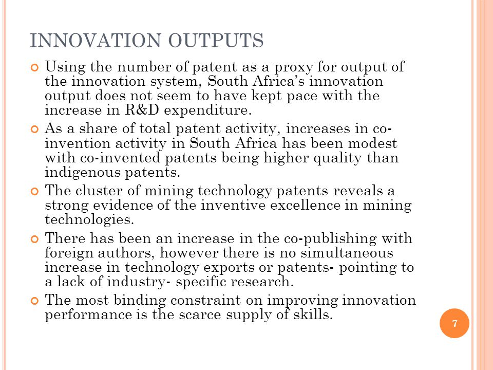 INNOVATION OUTPUTS