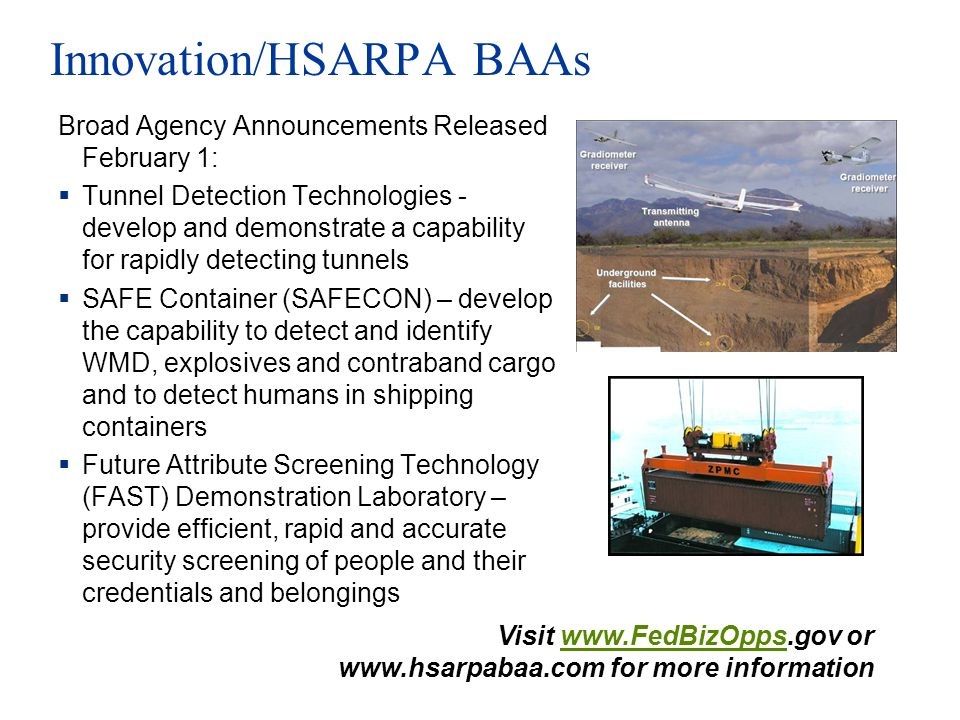 Innovation/HSARPA BAAs