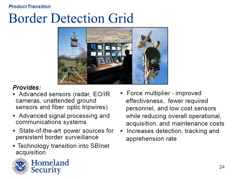Product Transition Border Detection Grid