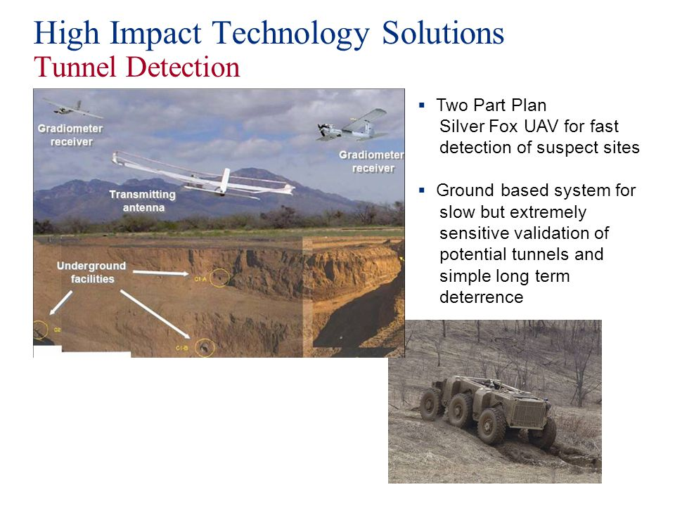 High Impact Technology Solutions Tunnel Detection