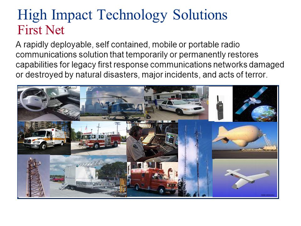 High Impact Technology Solutions First Net