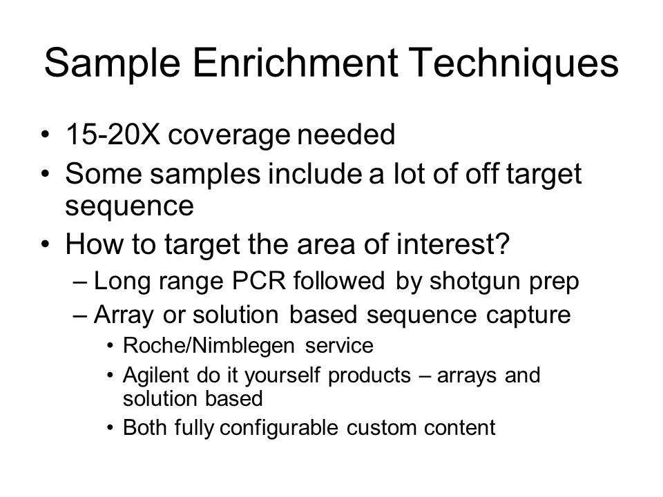 Sample Enrichment Techniques