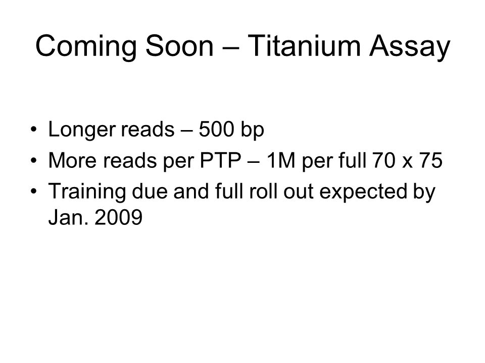 Coming Soon – Titanium Assay