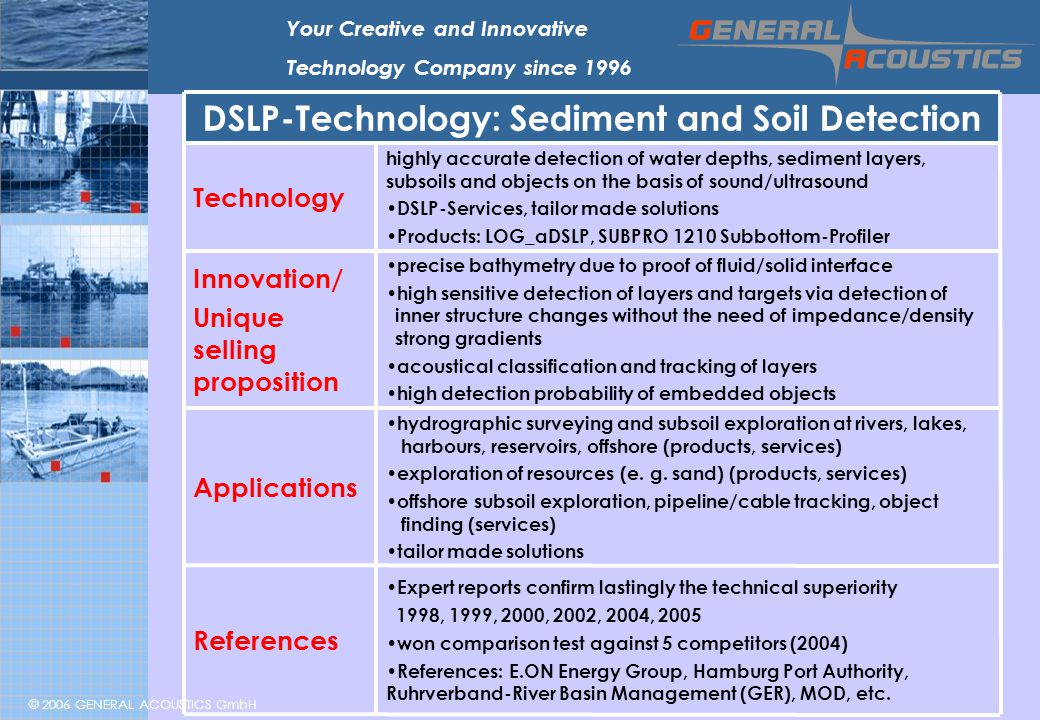 DSLP-Technology: Sediment and Soil Detection