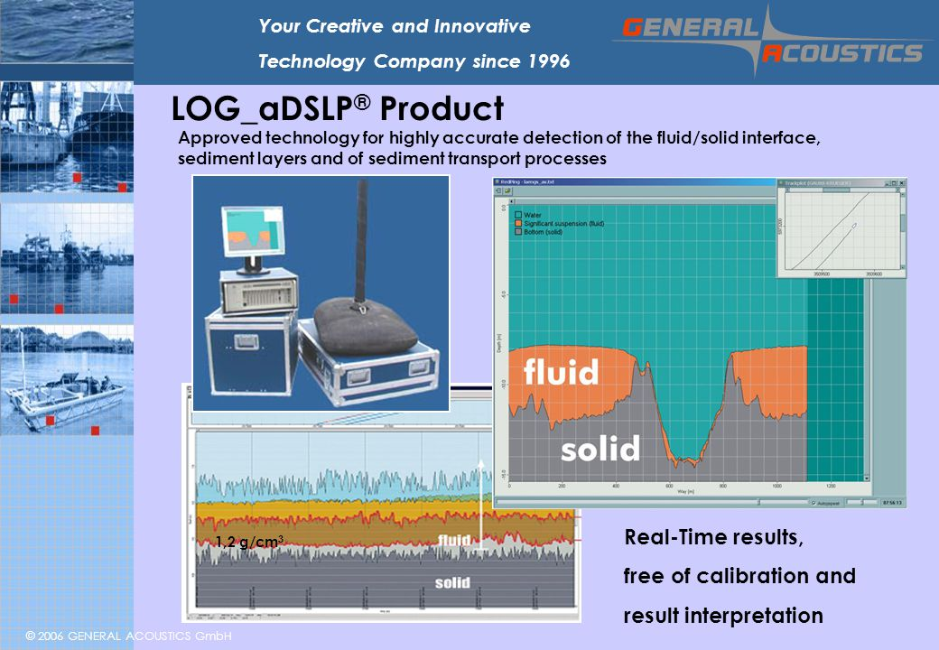 LOG_aDSLP® Product Real-Time results, free of calibration and