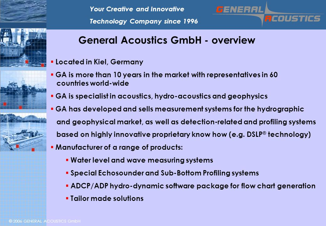 General Acoustics GmbH - overview