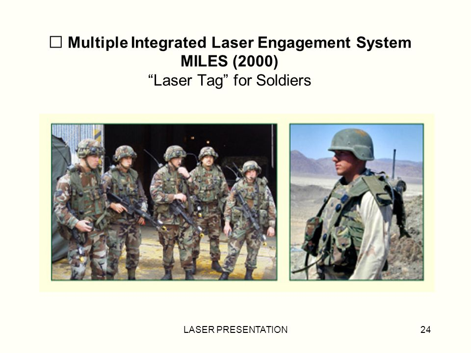 Multiple Integrated Laser Engagement System MILES (2000) Laser Tag for Soldiers