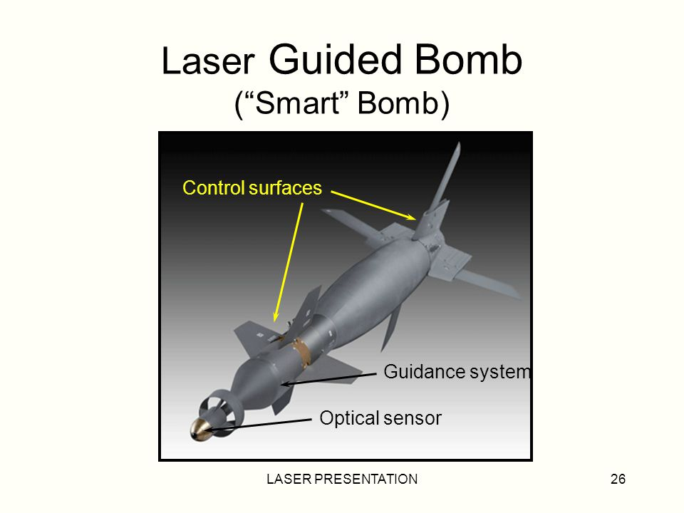 Laser Guided Bomb ( Smart Bomb)