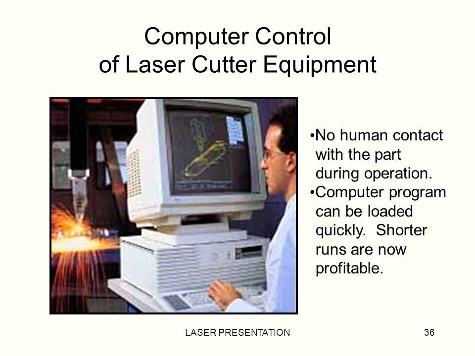 Computer Control of Laser Cutter Equipment