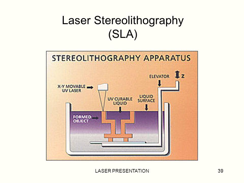 Laser Stereolithography (SLA)
