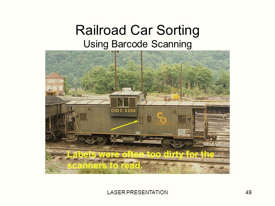 Railroad Car Sorting Using Barcode Scanning