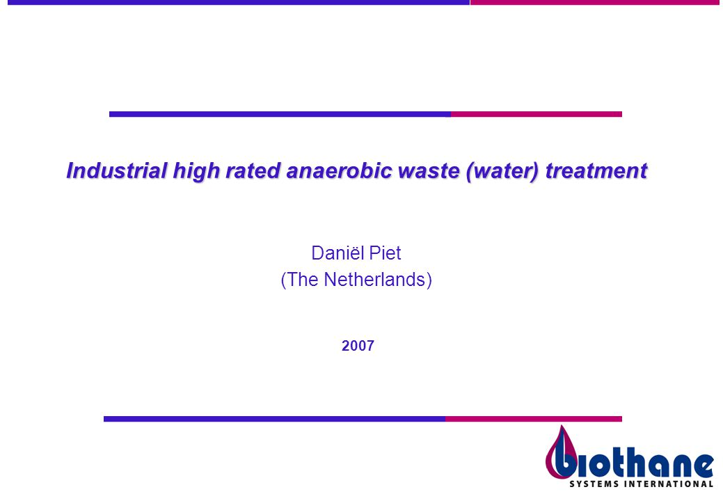 Industrial high rated anaerobic waste (water) treatment