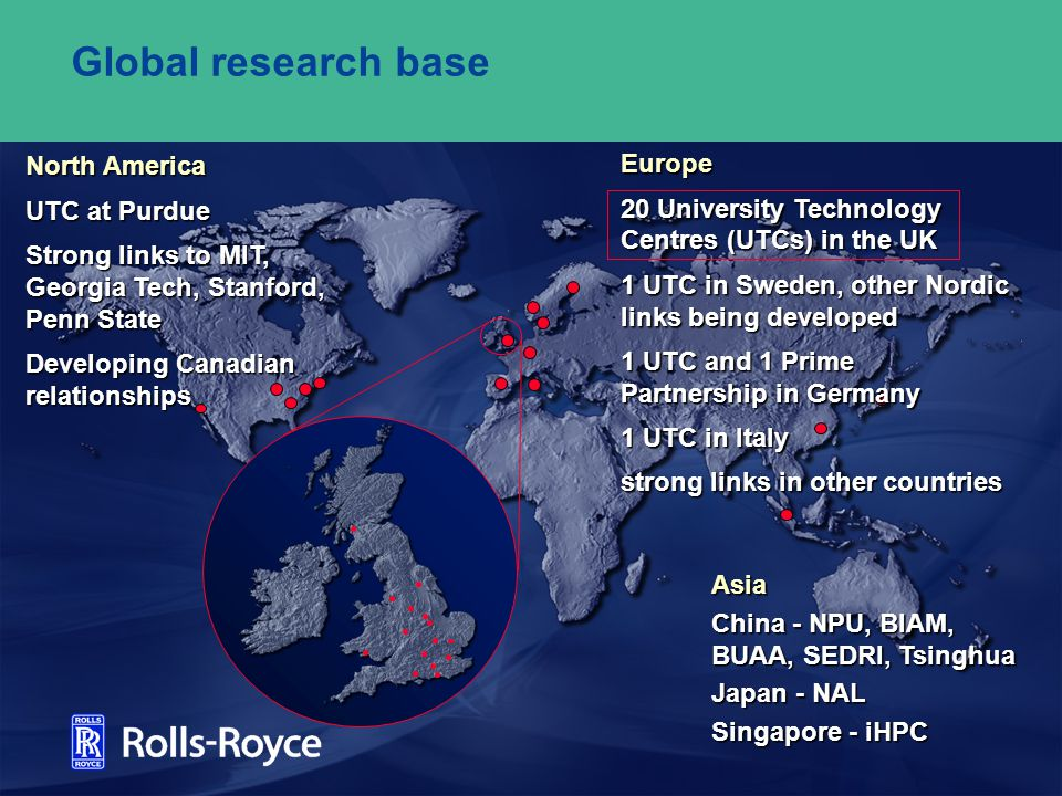 Global research base Europe North America