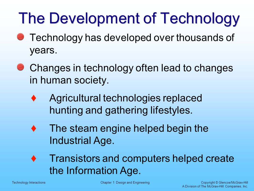 The Development of Technology