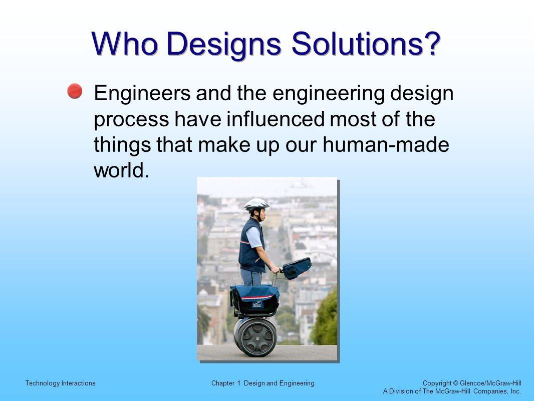 Who Designs Solutions.