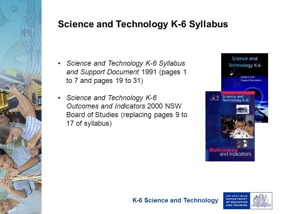 Science and Technology K-6 Syllabus