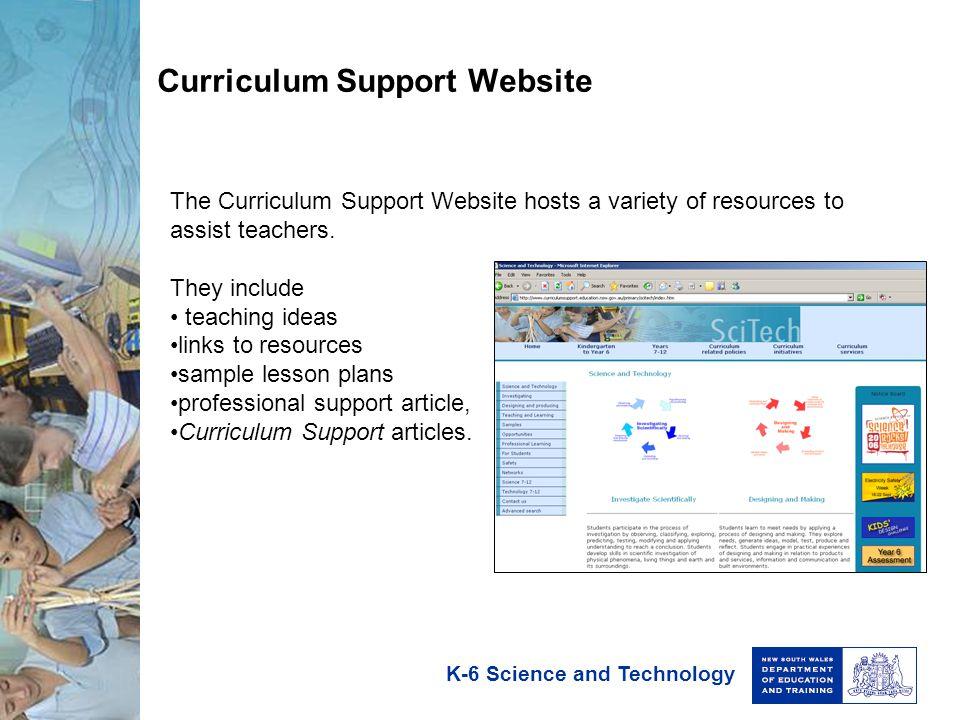 Curriculum Support Website
