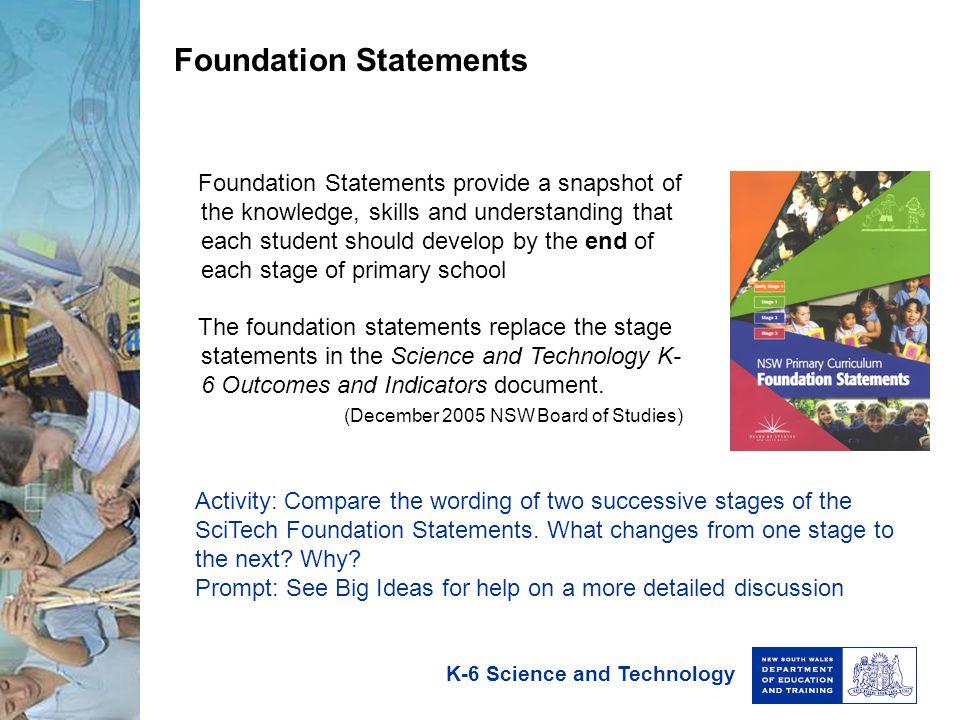 Foundation Statements