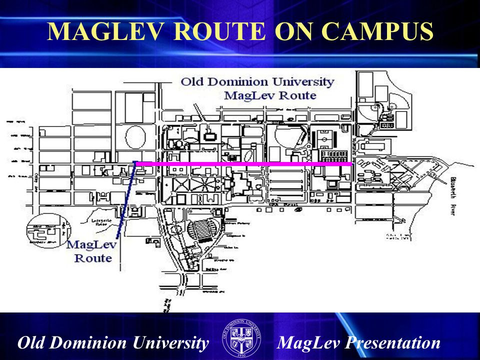 MAGLEV ROUTE ON CAMPUS