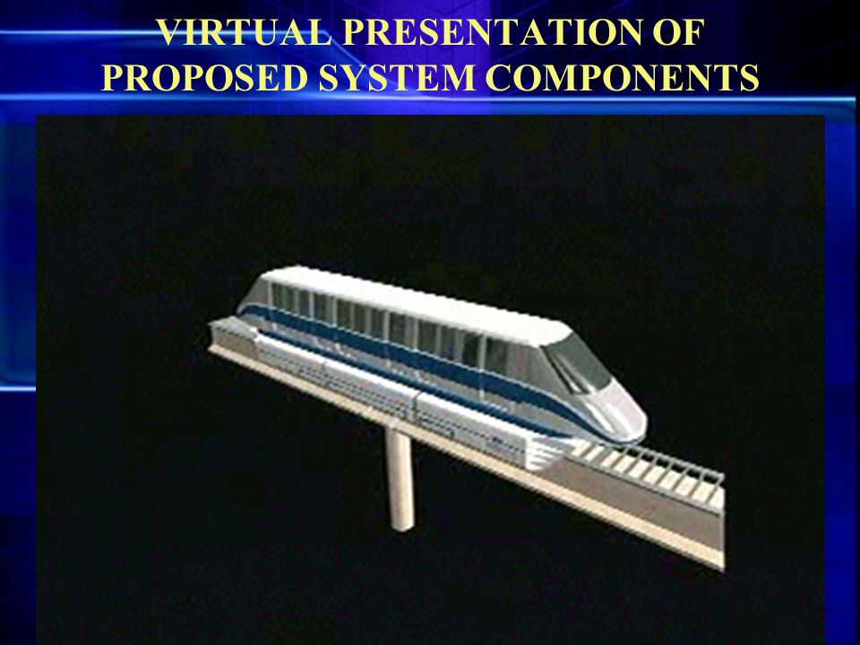 VIRTUAL PRESENTATION OF PROPOSED SYSTEM COMPONENTS