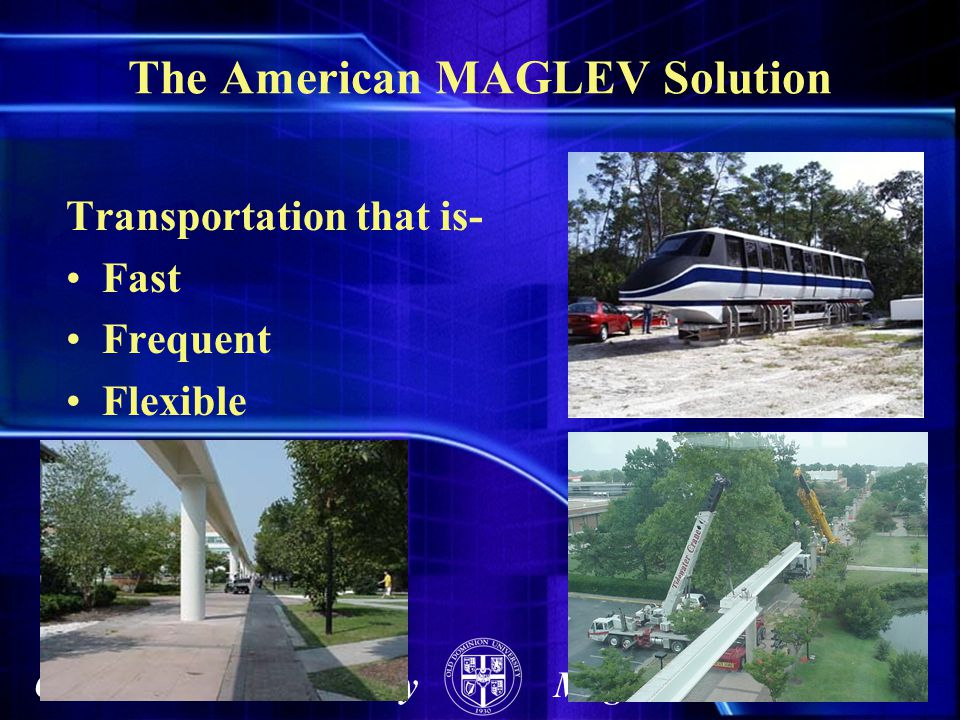 The American MAGLEV Solution