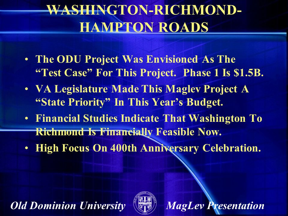 WASHINGTON-RICHMOND-HAMPTON ROADS