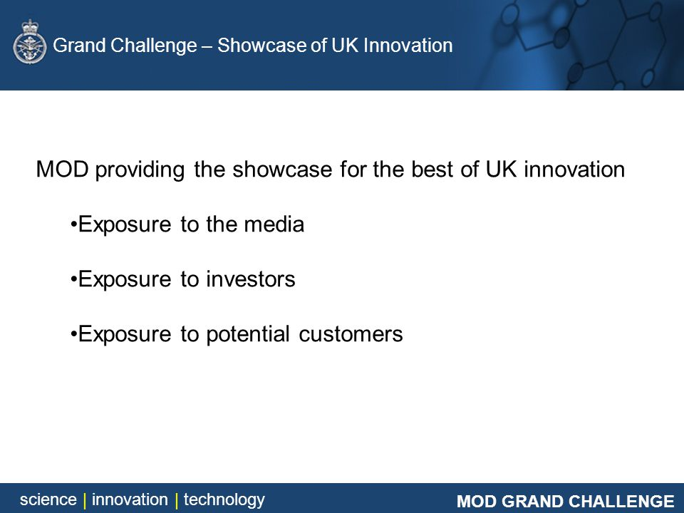 MOD providing the showcase for the best of UK innovation