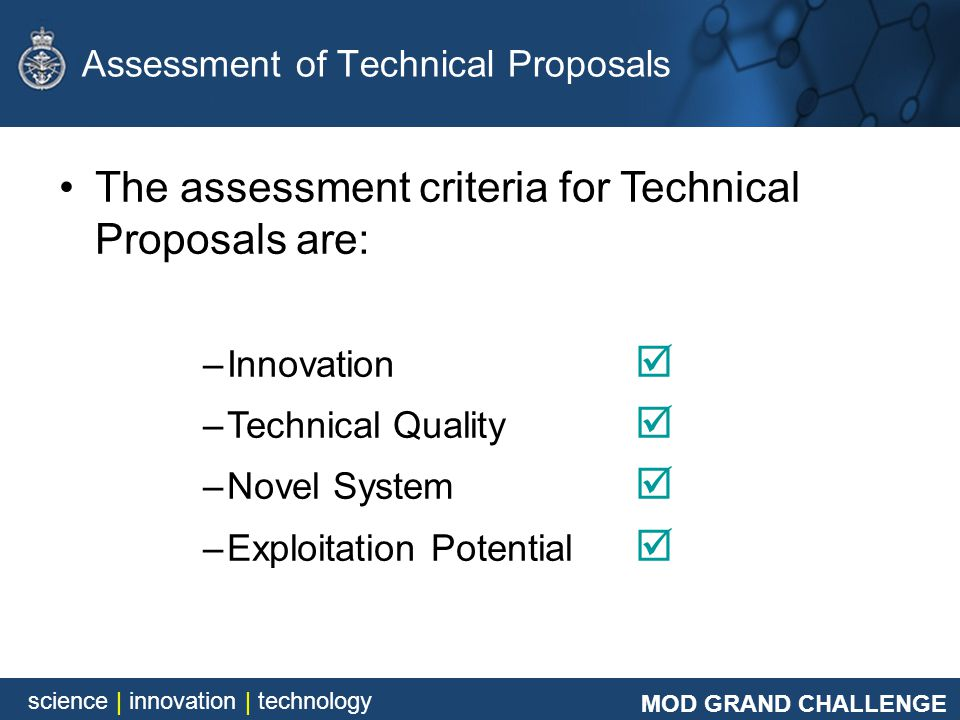 Assessment of Technical Proposals