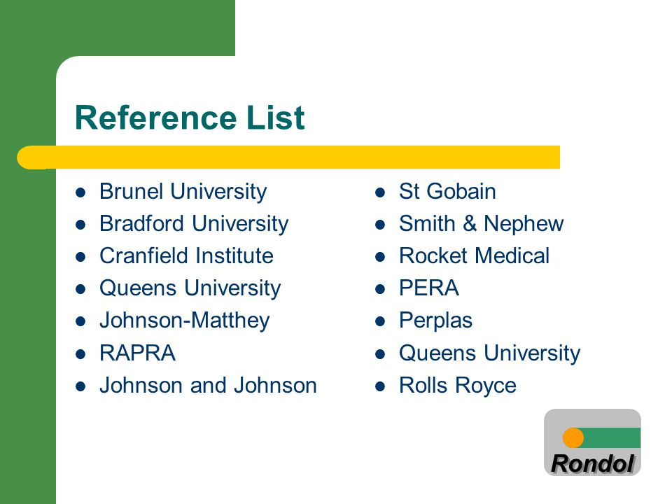 Reference List Brunel University Bradford University